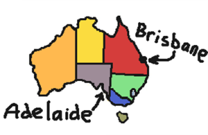 adelaide brisbane map 4